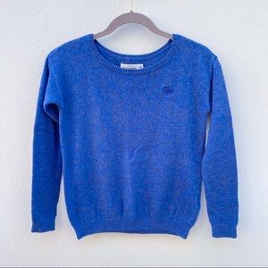 Abercrombie & Fitch blue sweater logo small